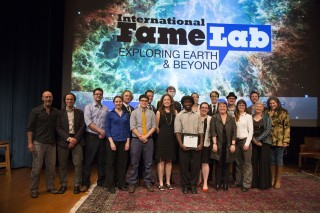 Lyl Tomlinson and finalists for Famelab USA Competition