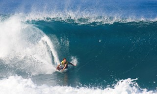 Former professional surfer Richie Lovett competing before his cancer diagnosis