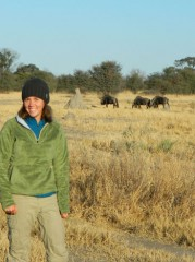 While carrying out track surveys and checking camera traps, Lindsey Rich says she enjoys seeing many non-predator wildlife species such as wildebeest (pictured),...