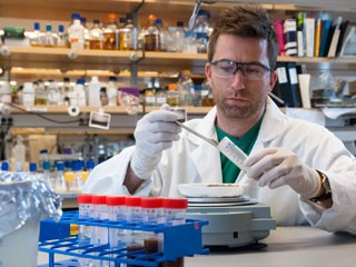 <b>Get dirty:</b> Researchers, including Zach Charlop-Powers (above), are looking for antibiotics and other natural products by sequencing the genetic...