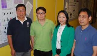 UTHealth scientists working to learn more about the fundamental causes of sickle cell disease are from left to right Anren Song, Ph.D., Kaiqi Sun, Yang...