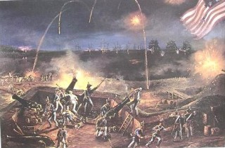 The defenders of Fort McHenry weather a ferocious bombardment by the British in 1814.