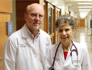Edmund Lattime (left), PhD and Elizabeth Poplin, MD.