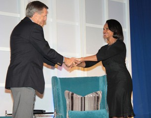 Dr. Condoleezza Rice and Brit Hume