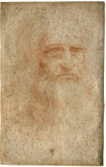 Leonardo da Vinci's self-portrait as acquired during diagnostic studies carried out at the Central Institute for the Restoration of Archival and Library...