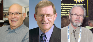 Wilson Medals for three pioneers of the cytoskeleton: (L-R) Peter Satir, Bill Brinkley, and John Heuser.