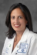 Rana Awdish, M.D., a Henry Ford Hospital pulmonologist who developed the yoga exercise program.