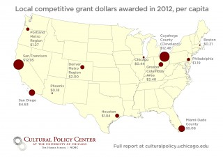 New report shows funding for the arts in 13 regions in the U.S.