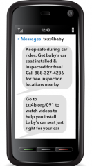 A sample text message for pregnant women.