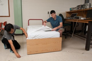 Kansas State University engineering students have created mattress and bed sensors that track breathing rates, heart rates and movement of children while...