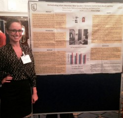 Rebecca Post, who recently earned her degree in applied psychology from Ithaca College, presented the research findings at the conference.