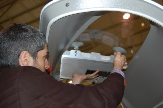 An Agile Aperture Antenna is placed in a window of an aircraft for a recent test flight. The software-defined, electronically-reconfigurable antenna can change...