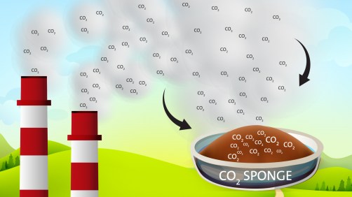 Plastic that soaks up carbon dioxide could someday be used in plant smokestacks.