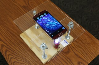 Daniel Miller, a recent biological sciences M.S. graduate from Missouri University of Science and Technology, built this do-it-yourself microscope with...
