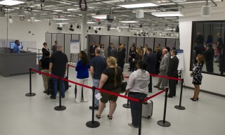 At the Maryland Test Facility (MdTF) grand opening June 26, DHS leaders from the Science and Technology Directorate and Customs and Border Protection watched...