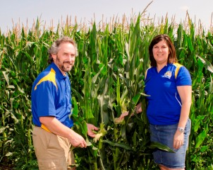 State climatologist Dennis Todey and climate field specialist Laura Edwards from the South Dakota State University Extension office in Aberdeen examine...