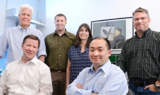 Front (l-r) John McAnally and Chengzu Long;