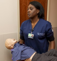 At the Hopkins School of Nursing, students go through simulations to learn care in the toughest circumstances, from deadly storms to viral outbreaks.