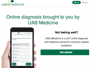 UAB Medicine is the state's first medical provider to offer online diagnosis and treatment of common conditions, such as colds, allergies, bladder infections...