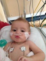 Haven Forner in the PICU at Children's Hospital Los Angeles