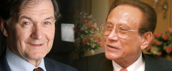 (L) Sir Roger Penrose and (R)
