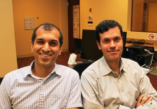 Rutgers researchers Jamil Bhanji (left) and Mauricio Delgado find the way bad news is delivered can affect how the recipient rebounds from it.