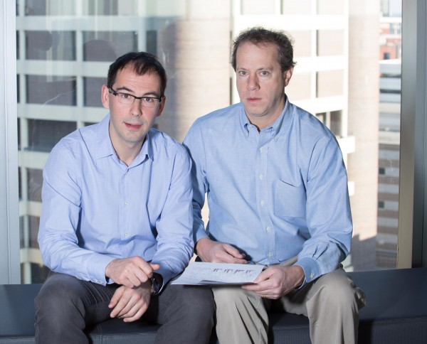 Dr. Benoit Chassaing and Dr. Andrew T. Gewirtz, from left to right