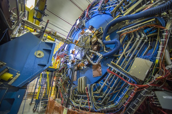 The STAR detector at RHIC tracks particles emerging from thousands of subatomic smashups per second.