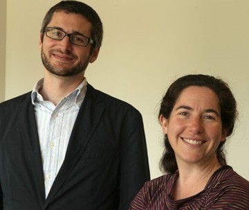 Psychology professors Matthew Hilimire, left, and Catherine Forestell of William & Mary are in image one. Assistant Professor Jordan DeVylder of the University of Maryland School of Social Work is in image two.