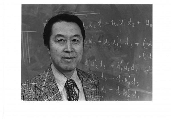 Prof. Yoichiro Nambu (shown here in 1979) won the Nobel Prize for his discovery of spontaneous symmetry breaking in subatomic particle physics.