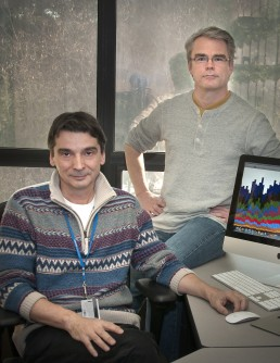 Brookhaven physicists Alexei Klimentov and Torre Wenaus have helped to design computational strategies for handling a torrent of data from the ATLAS experiment at the LHC.