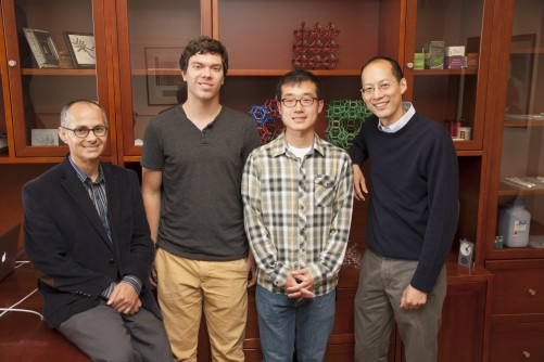 From left, Omar Yaghi, Christian Diercks, Song Lin and Chris Chang.