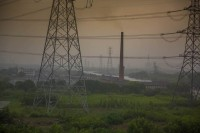 A coal-fired power station in rural Zhejiang Province, China.