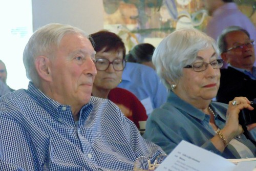 Arthur Bienenstock and his wife Roslyn at the Oct. 10 'Celebrating Artie Bienenstock' symposium.