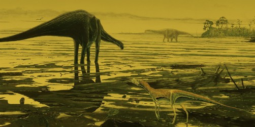 Newswise: Hundreds of Enormous Footprints Left by Dinosaurs Found Along a Lagoon in Scotland
