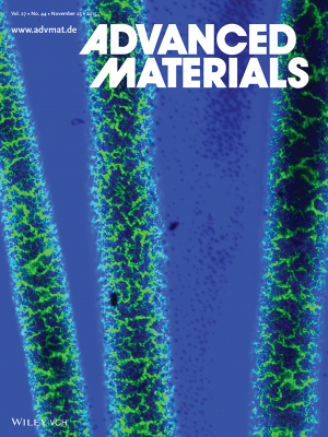 The Penn team's research was featured on the cover of Advanced Materials.