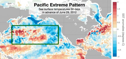 Newswise: Ocean Temps Predict U.S. Heat Waves 50 Days Out, Study Finds