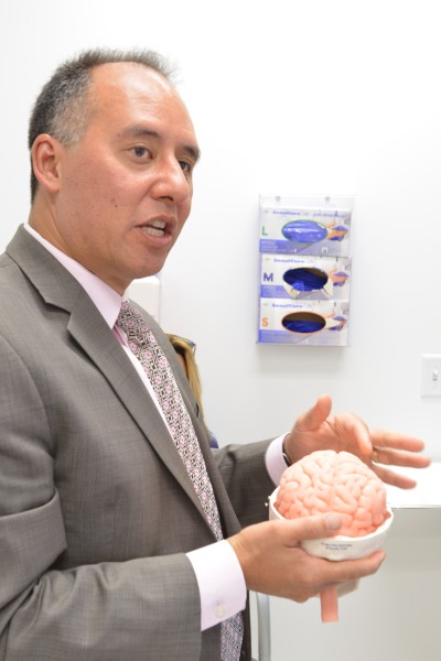 Dr. Christopher Giza explains the impact of concussion on the brain. Giza is director of the UCLA Steve Tisch BrainSPORT Program.