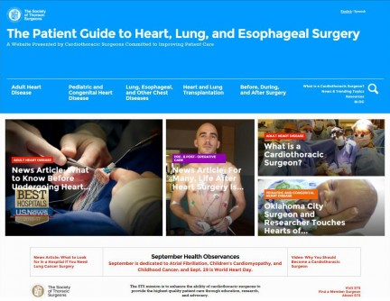 Newswise: New Website From the Society of Thoracic Surgeons Puts the Power of Information at the Fingertips of Patients