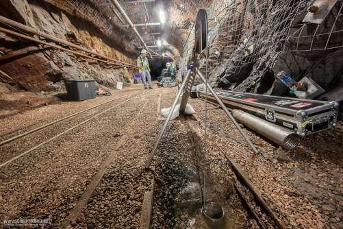 Berkeley Lab researchers have deployed various tools to collect data on the boreholes they drilled at kISMET, a rock observatory a mile underground at the Sanford Underground Research Facility in South Dakota.