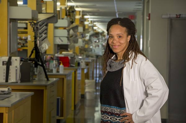 Ronke Olabisi, assistant professor in the Department of Biomedical Engineering, and her lab focus on tissue engineering and regenerative medicine to replace or repair bone, skin, muscle and the retina.