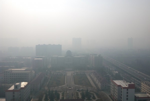 Photo taken in the city of Taiyuan, China shows haze on December 3, 2016.