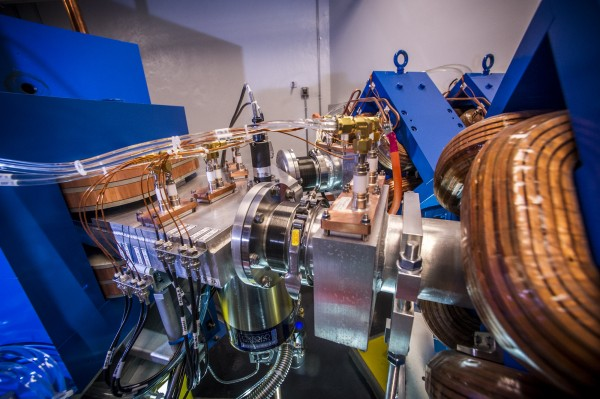 A look inside UAB's Cyclotron, which makes radioactive molecular imaging agents for nuclear medicine using a type of particle accelerator that moves protons, a one kind of charged particle, along a spiral path to strike a material to produce radioisotopes.