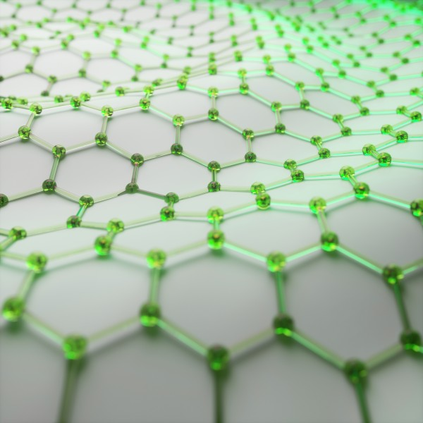 Graphene, a one-atom-thick layer of graphite, consists of carbon atoms arranged in a honeycomb lattice.