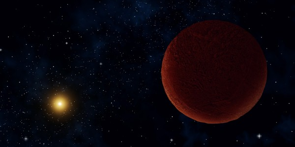Artist concept of the planetary body 2014 UZ224, more informally known as DeeDee. ALMA was able to observe the faint millimeter-wavelength