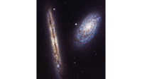 Newswise: A New Angle on Two Spiral Galaxies for Hubble's 27th Birthday