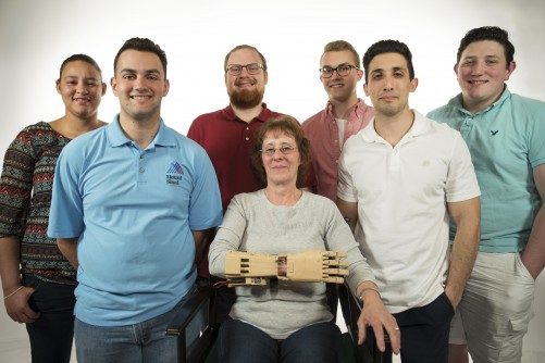 Newswise: Binghamton U. Students Develop Affordable Mechanical Prosthetic Hand for Campus Employee Who Lost Her Hand at 18