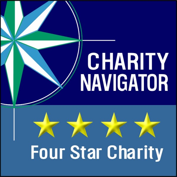The 4-star rating is Charity Navigator's highest rating