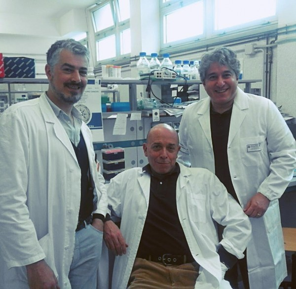 From left to right; Dr. Pierpaolo Correale, Professor Luigi Pirtoli, Dr. Antonio Giordano