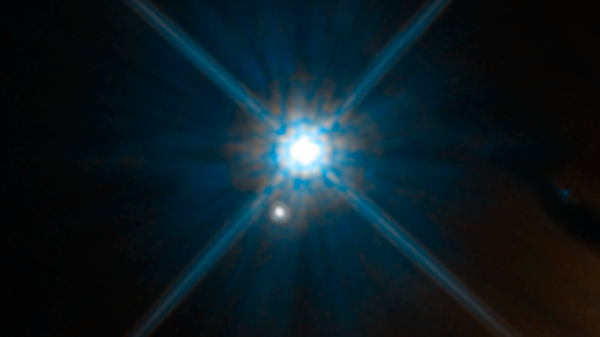 Looks can be deceiving. In this Hubble Space Telescope image, the white dwarf 